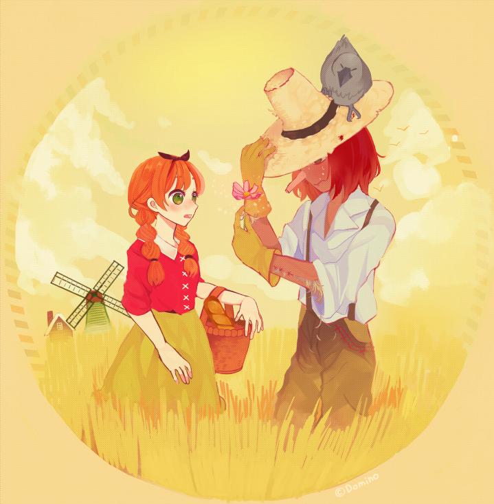 カラス「はよ告白せんかい!」 黄金色の麦畑で思いを君に