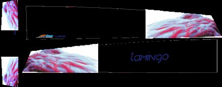 Flamingo Elektor Unterseite blau