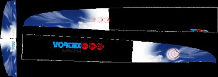Vortex Mach 1 Designe Unterseite blau
