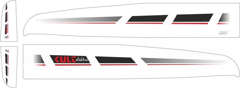 Kult Elektro Designe schwarz  Unterseite schwarz