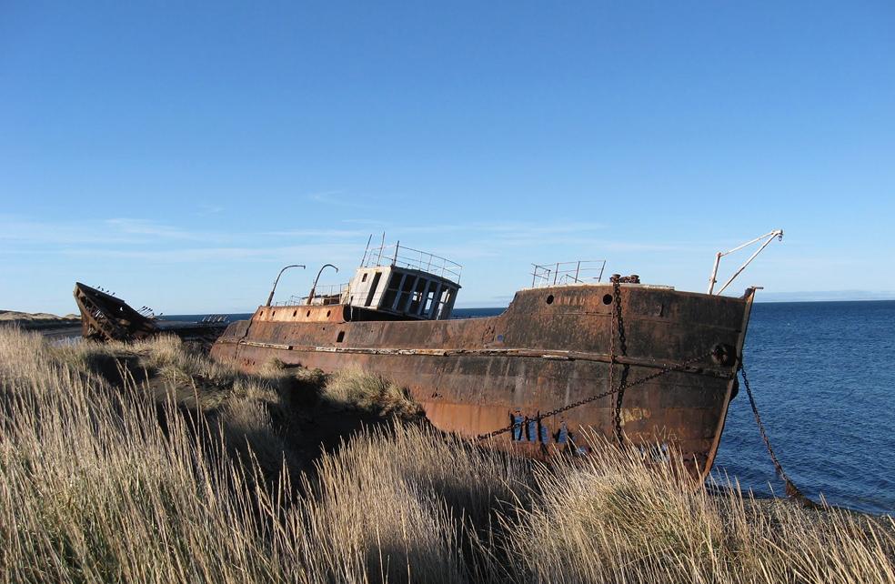Vaixell Amadeo El Baptisme, Sant Gregori Regió de Magallanes i Antartida, Xile.