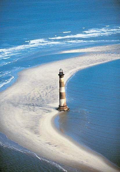 Far a Morris Island II Charleston, Carolina del Sud, EUA.