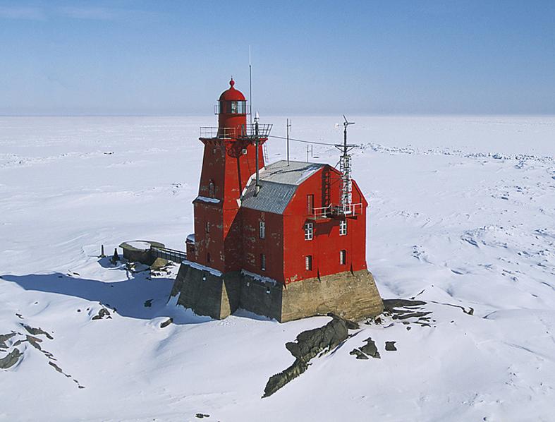 Far Porkkala a l'illa Kallbada de la mar Bàltic, golf de Finlàndia. Foto: Jean Guichard.