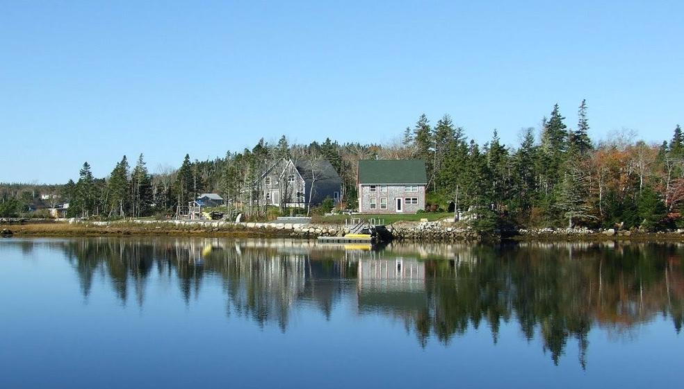 ••Cala de Peggy, camí de la badia Prospect, Halifax Canadà, Oceà Atlàntic.