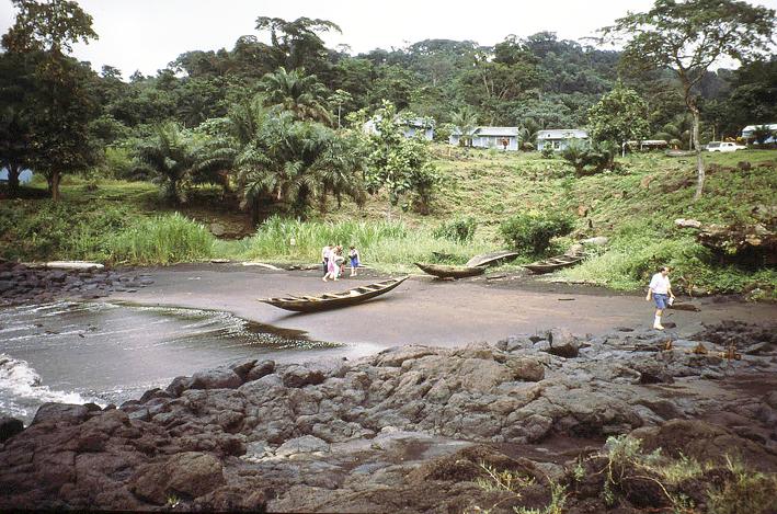 Cala Bimbia, Camerun.