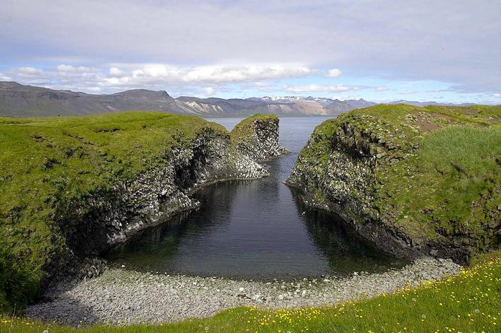 Cala Arnarstapa, a l'oest d'Islàndia.