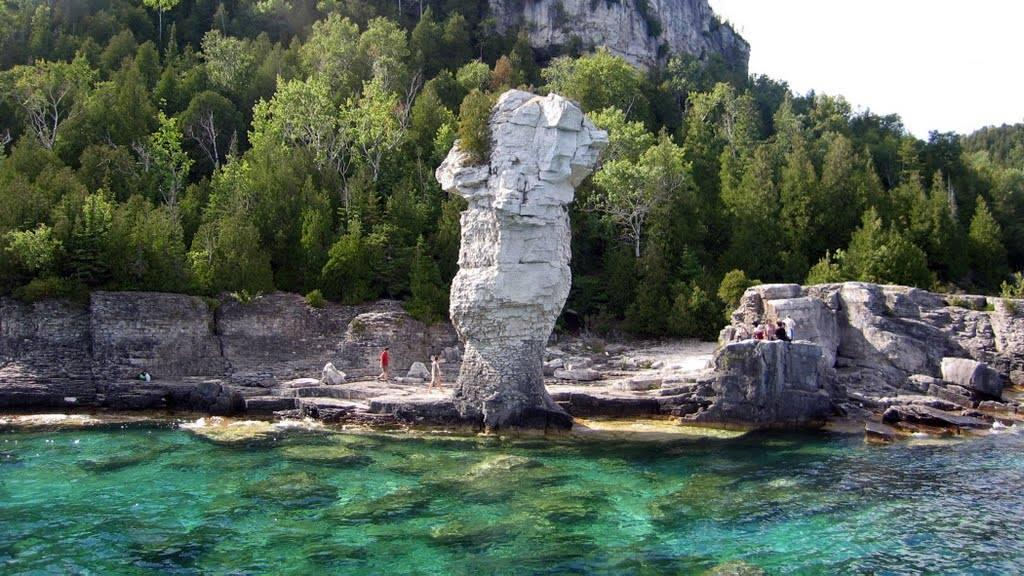 Cala a l'illa Flowerpot Ontario, Canada.