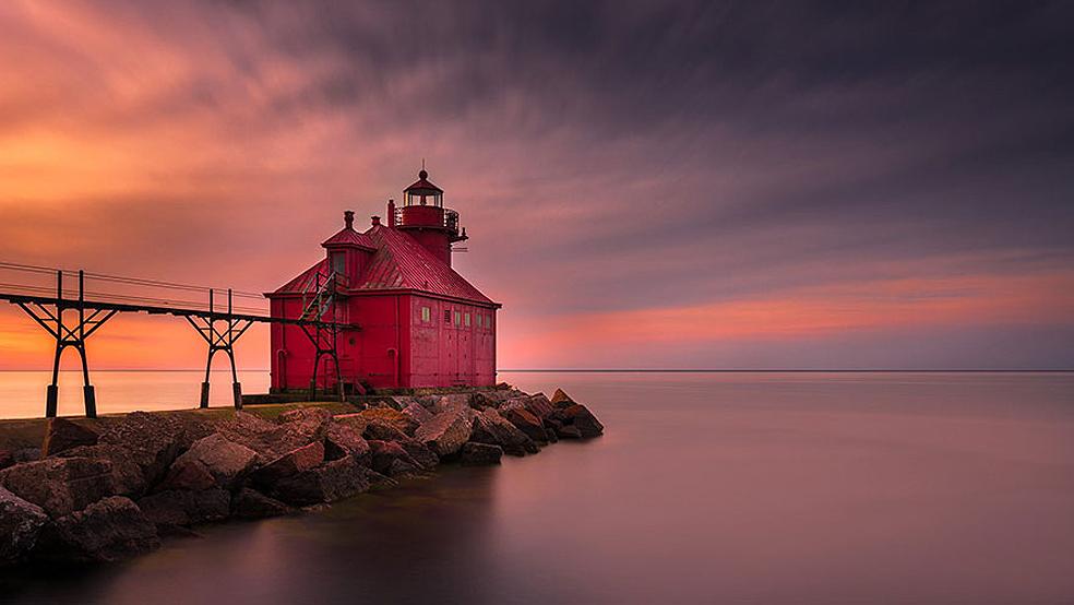 Far de Sturgeon Bay, Wisconsin, USA.