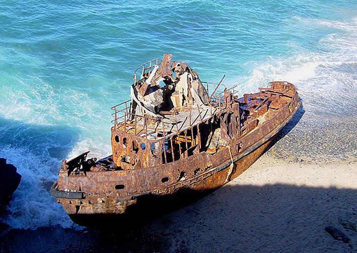 •Vaixell Amadeo El Baptisme, Sant Gregori Regió de Magallanes i Antartida, Xile.