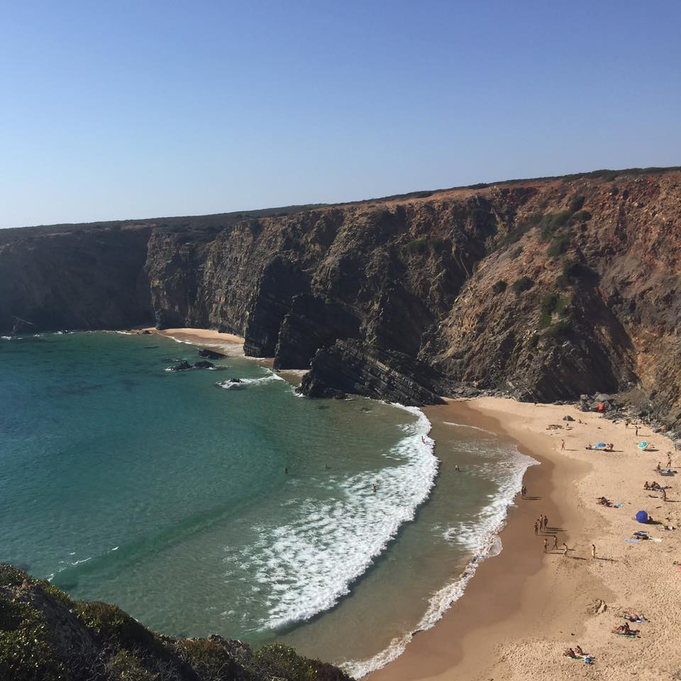 Cala a prop de Zambujeria do Mar a Alentejo, Portugal.