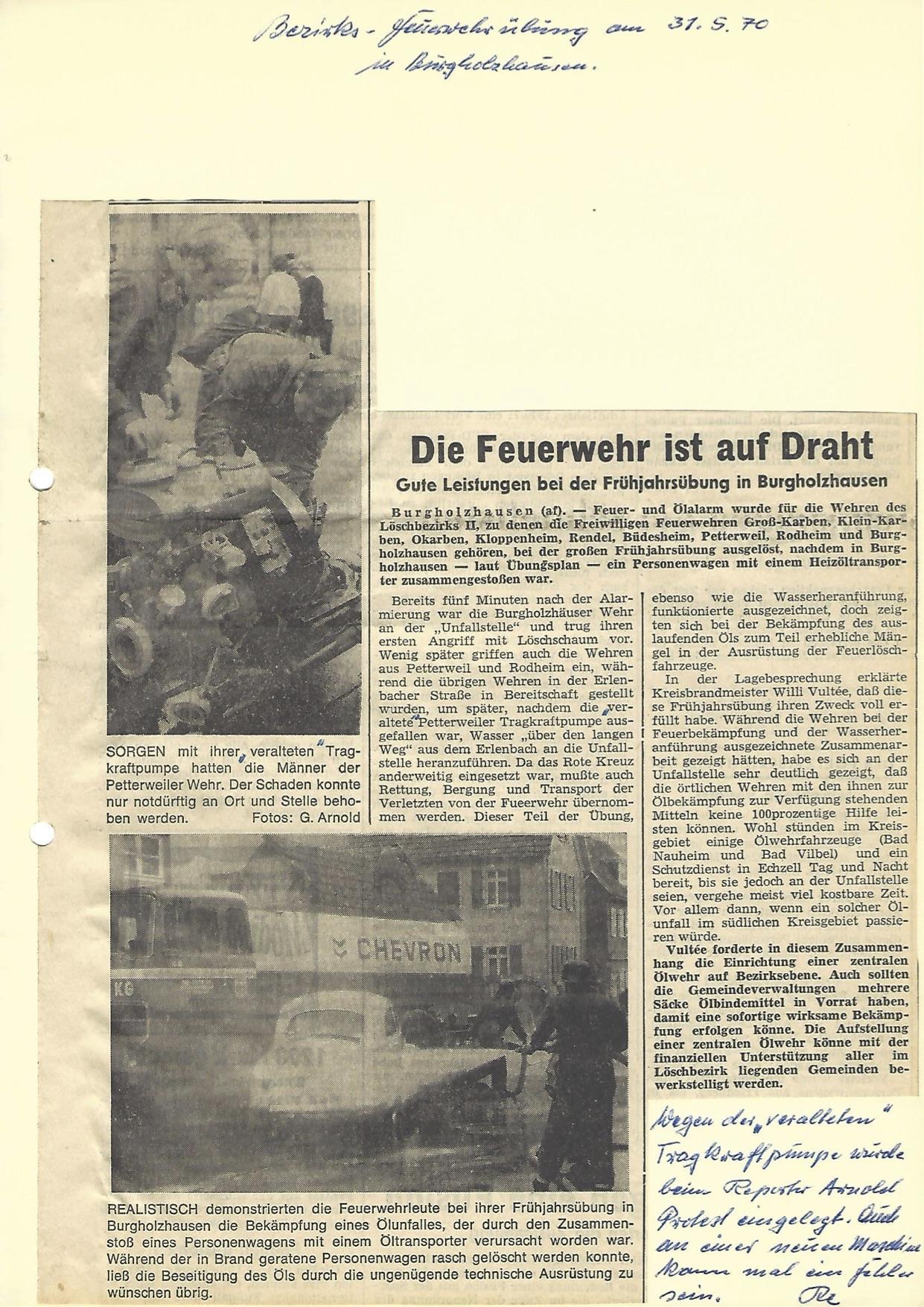 Zeitung 1970 1