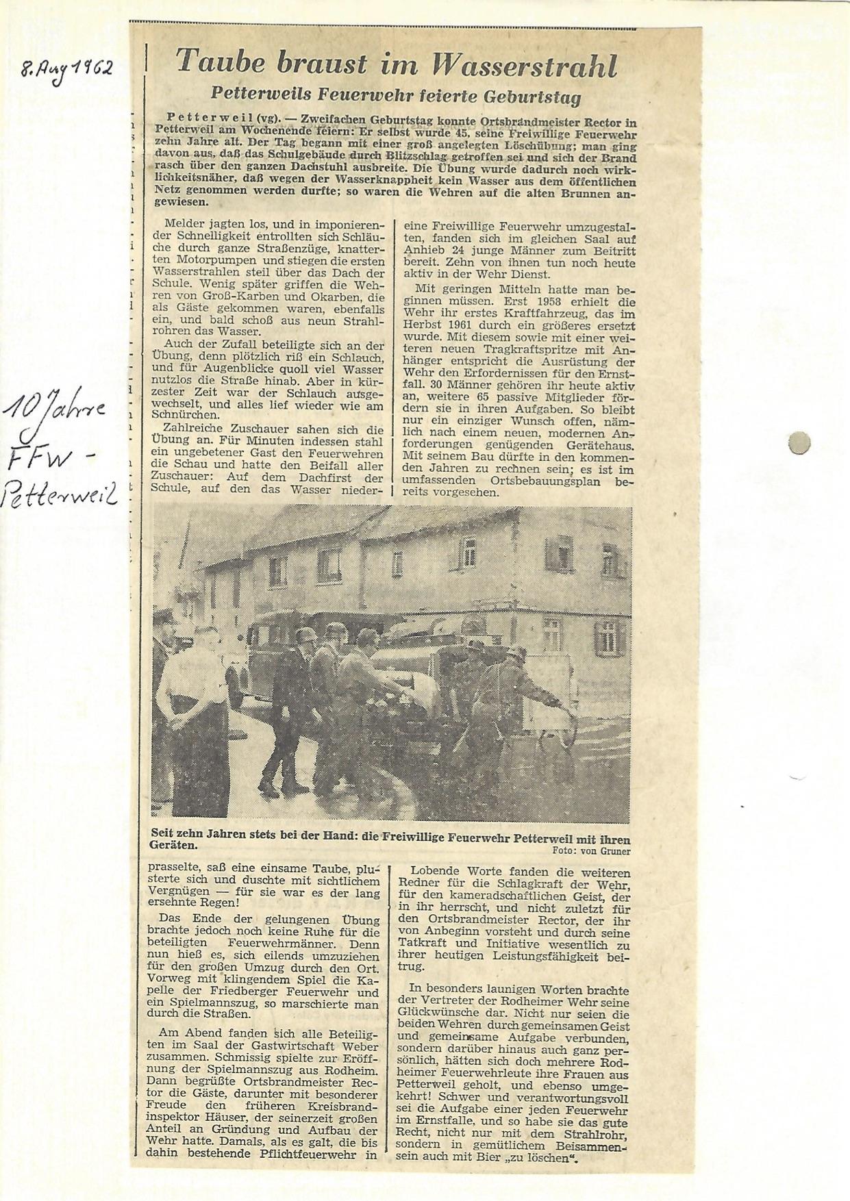 Zeitung 1962 2