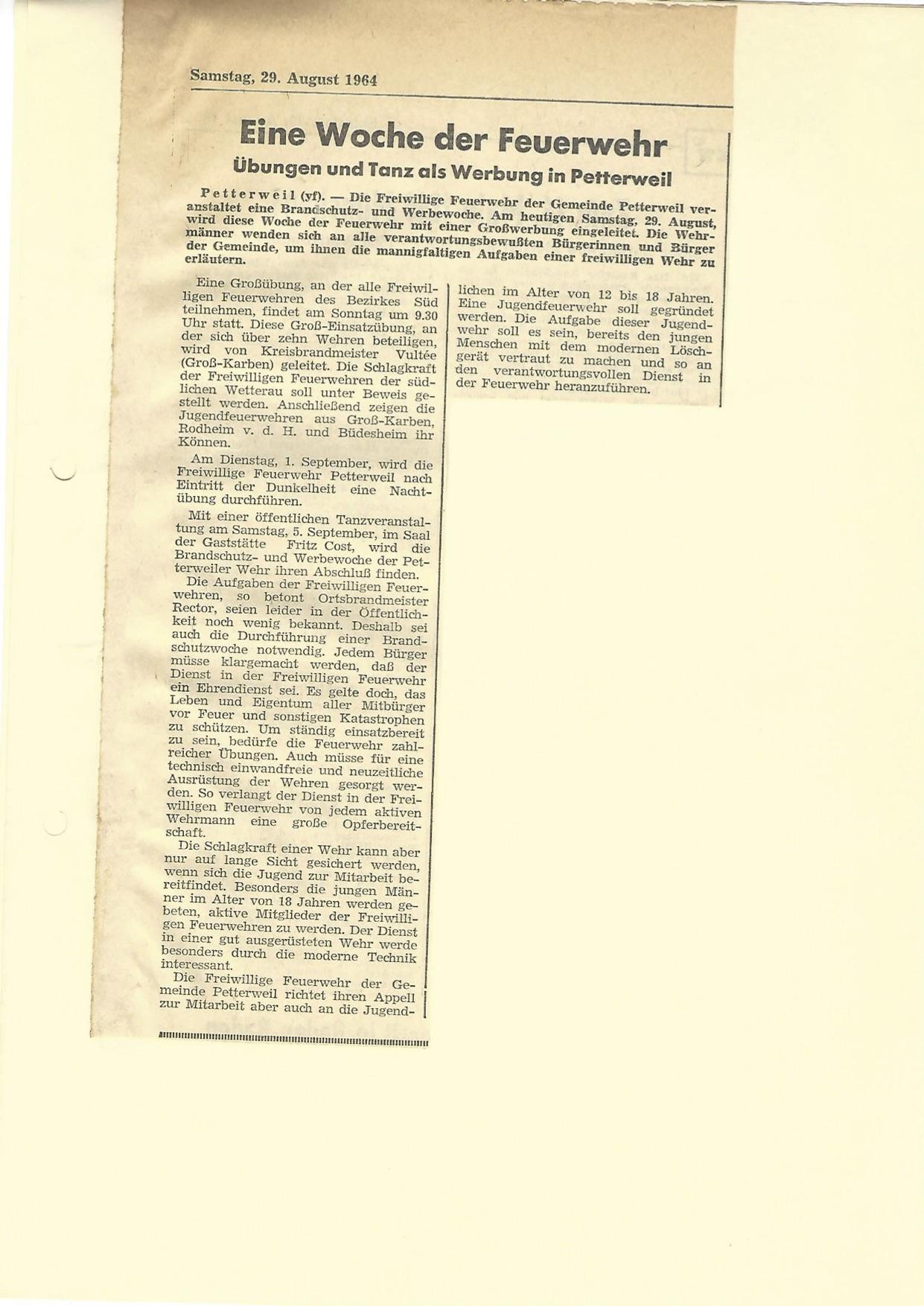 Zeitung 1964