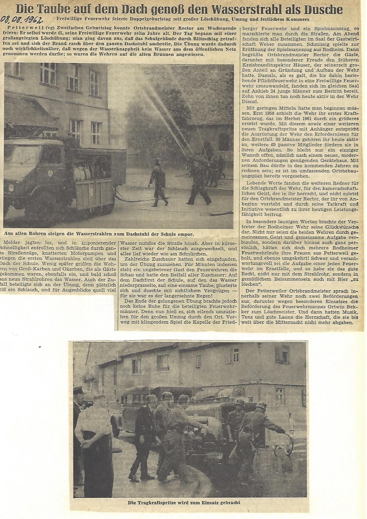 Zeitung 1962