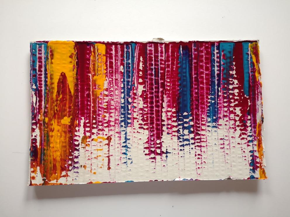 PSYCHEDELIC, acrylic on cardboard, 23 x 35cm