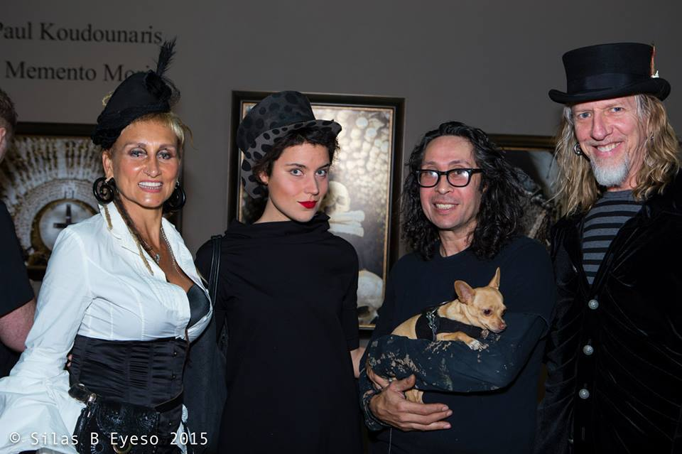 with artists Stefanie Vega and Glen Vaughn (+ Albert Cuellar - Tim Burton's creative assistant)
