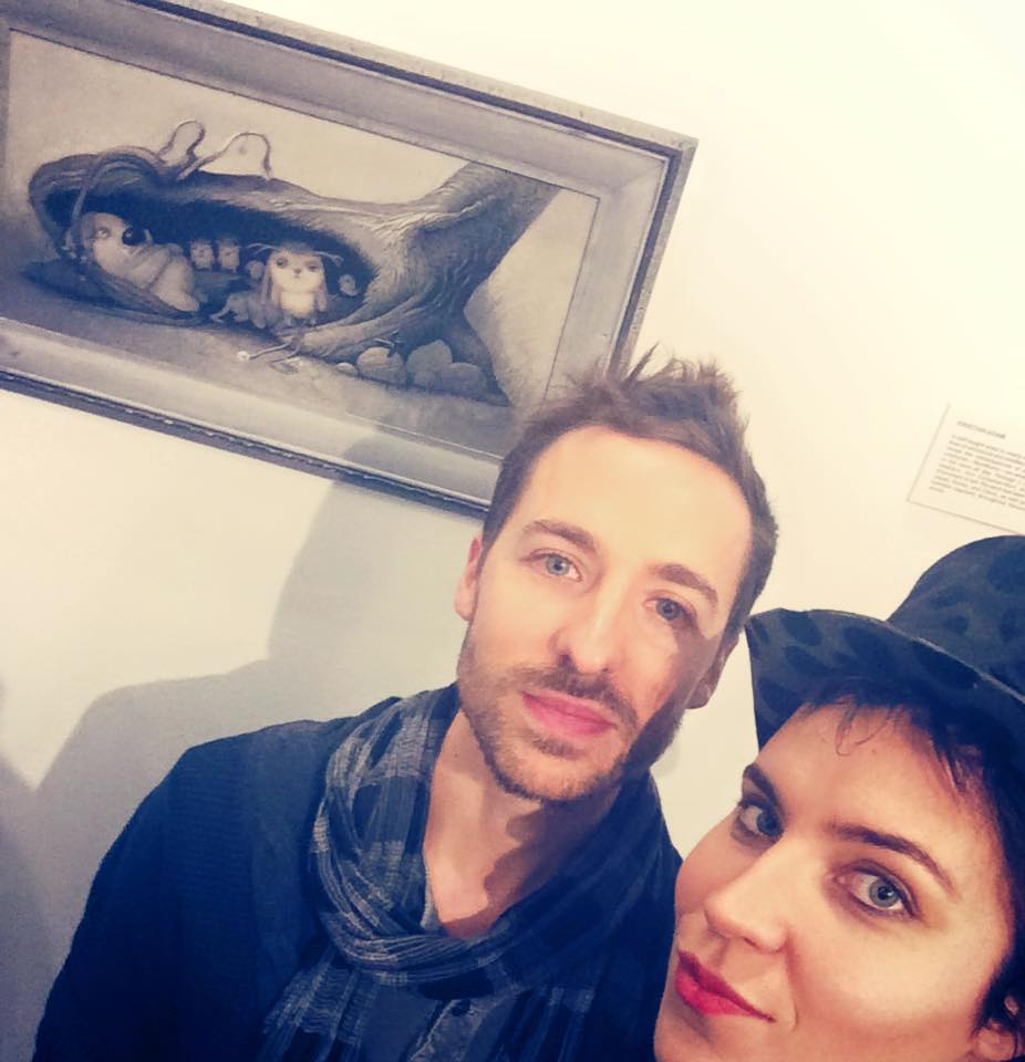 with the artist Kristian Adam