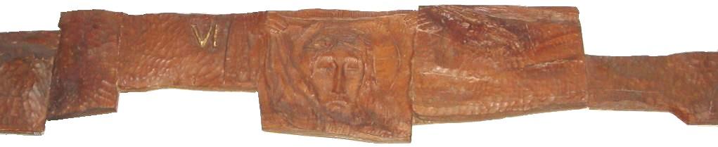第六留 イエス、ベロニカより布を受け取る