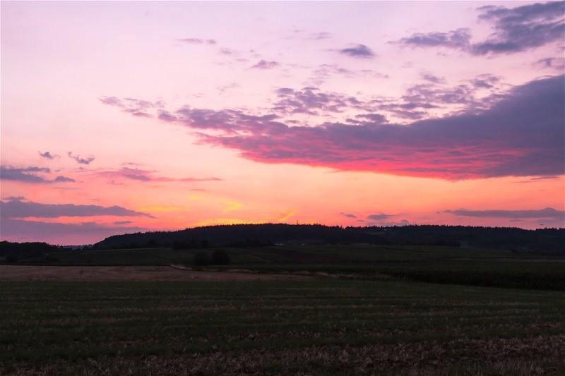 sonnenuntergang im burgund
