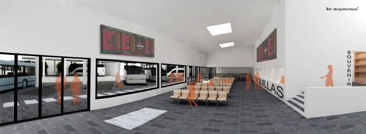 Sala de Espera de la Estación de Autobuses