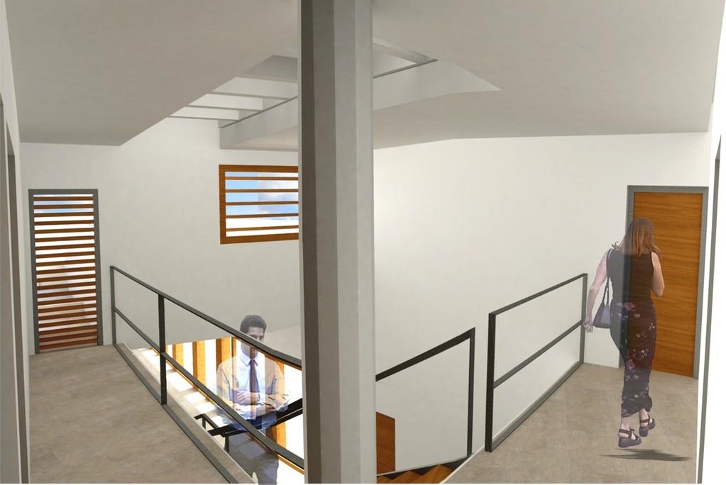 Hall de acceso a los despachos de Secretaría y Alcaldía
