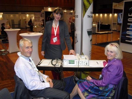 CONGRESS CENTER MAINZ, GERMANY, 2009, from right: ANTJE KESSLER, KARIN VAN HUELSEN, ND, WOLF-DIETER KESSLER, MD, PhD