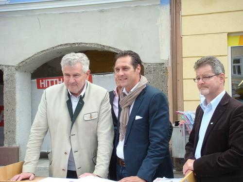 EU-Abgeordneter Mölzer, BPO HC Strache und GR Krusche