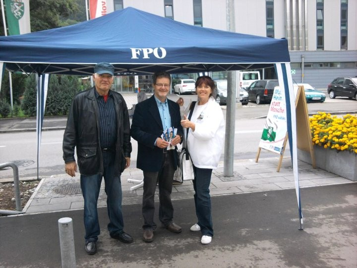 Informationsstand in Donawitz