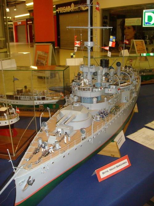 Die Ausstellung historischer Schiffsmodelle gibt einen Einblick in die K&K Kriegsmarine,...