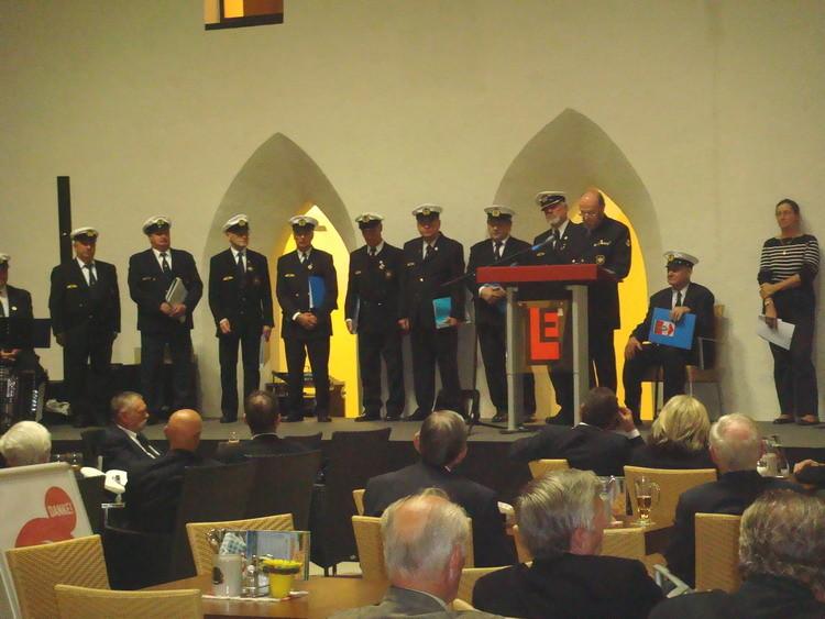 Die Redner spannen einen Bogen von der Geschichte der österreichischen Marine bis in die Gegenwart