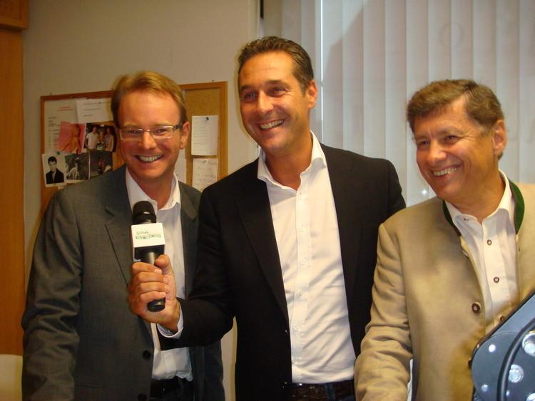 BPO Strache und LPO Kurzmann geben ein Interview für Radio Grün Weiss...