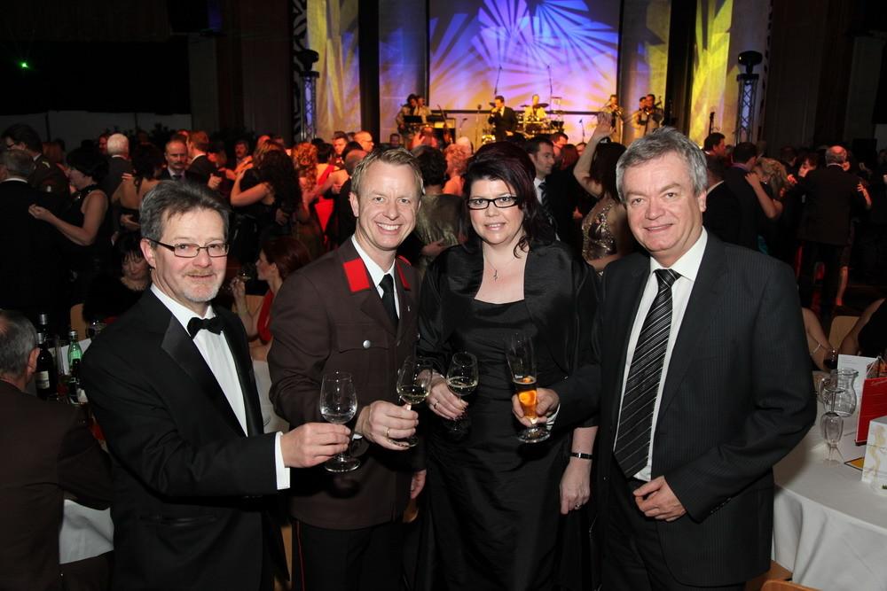 Gruppefoto mit mir, BM Abl, den Landtagsabgeordneten Ahrer und Lang