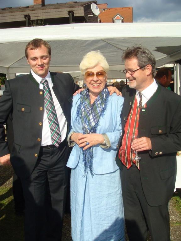 Mit GR Geiger und Frau Huber am Pfarrfest in Waasen