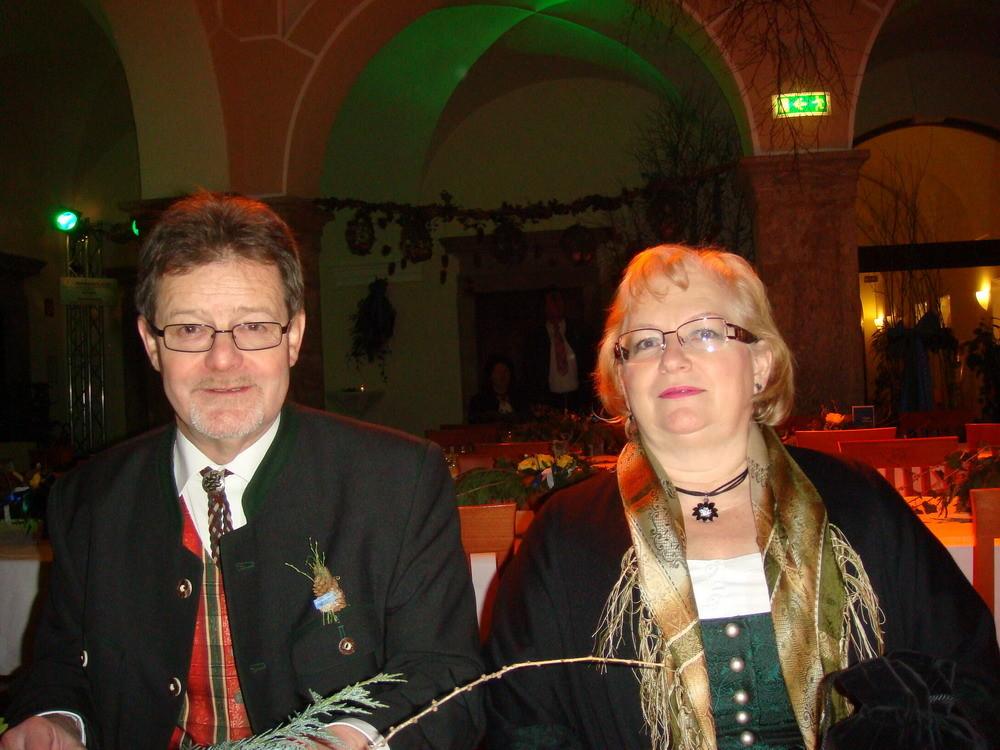 Mit meiner Frau am Dirndlball in Admont,