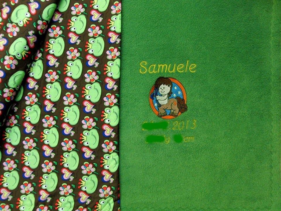 Nr.21 Decke 2 lagig mit Baumwolle/Fleece