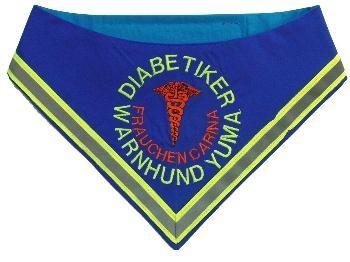 Halstuch für Diabetikerwarnhunde, Diabetiker, Warnhund, Halstuch, Hunde