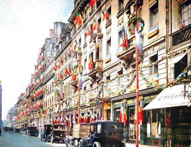 rue de la Paix, Paris, 1919, musée Albert Kahn