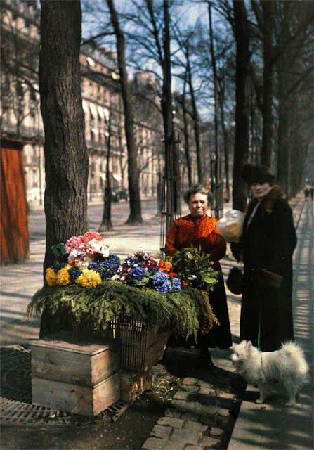 musée Albert Kahn, avenue Hoche, Paris, marchandes de fleurs