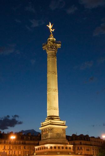 place de la bastille, colonne de juillet