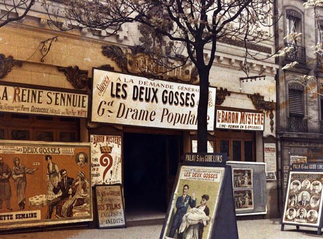 cinéma Pathé, Gobelins, Paris, 1918, musée Albert Kahn
