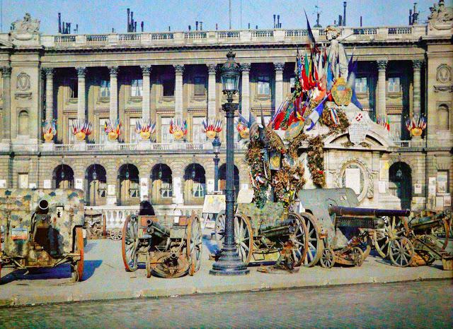 canons allemands, place de la Concorde, Paris, 1918, musée Albert Kahn