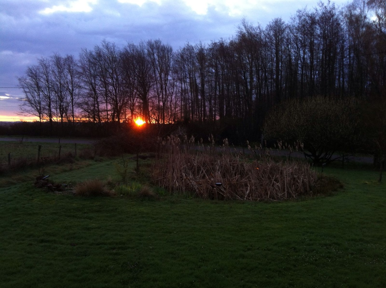Sonnenaufgang - gesehen aus Annettes Roulotte