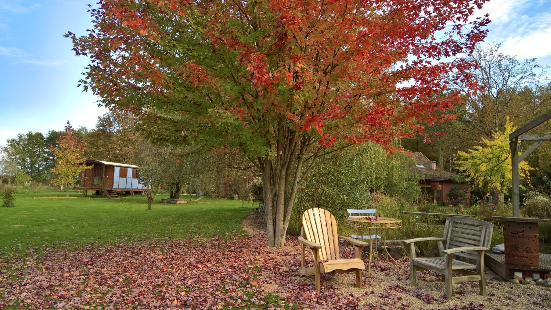 Herbststimmung im Garten von Maison Libellule