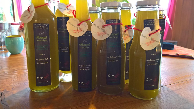 Olivenöl für die Gäste