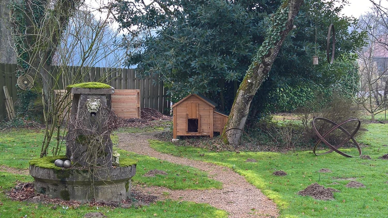 Provisorischer Standort fürs neue Hühnerhaus