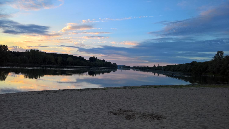 Abendstimmung an der Saône
