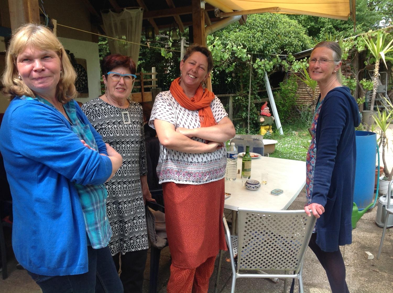 Besuch bei Hans - Susanne, Regine, ich und Annette