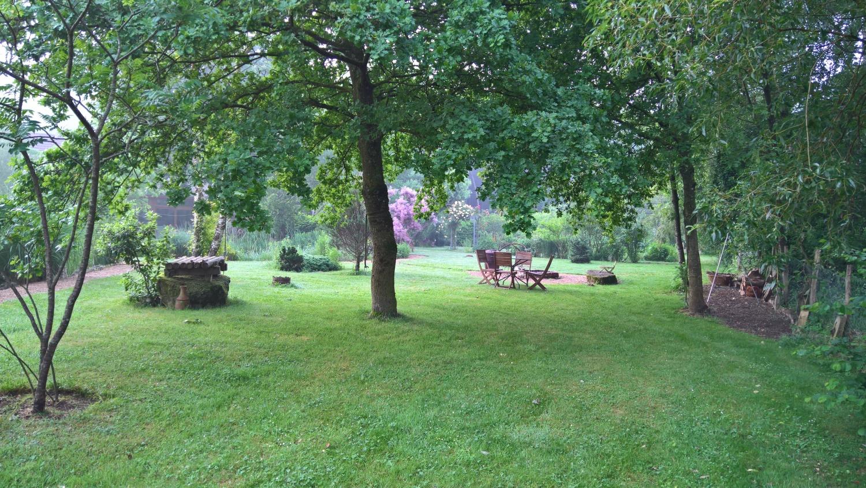 Grillstelle und auch der Platz, wo die Hängematten hängen