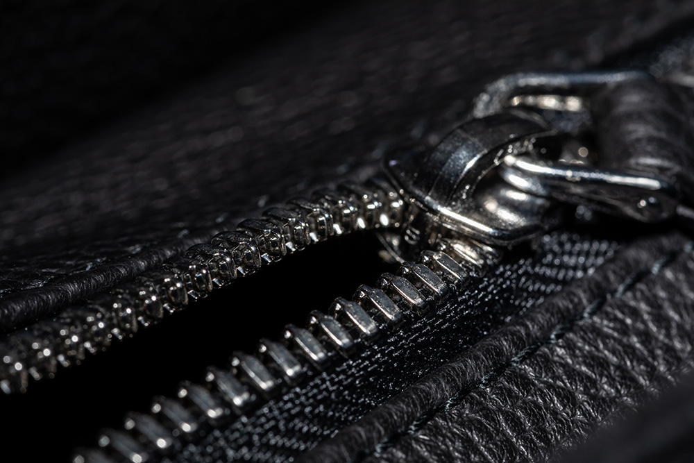 all zippers are hand polished