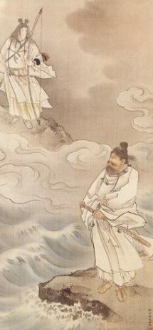 天照大御神と須佐之男命(松本楓湖筆・広島県立美術館蔵)